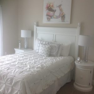 White double bed in bedroom