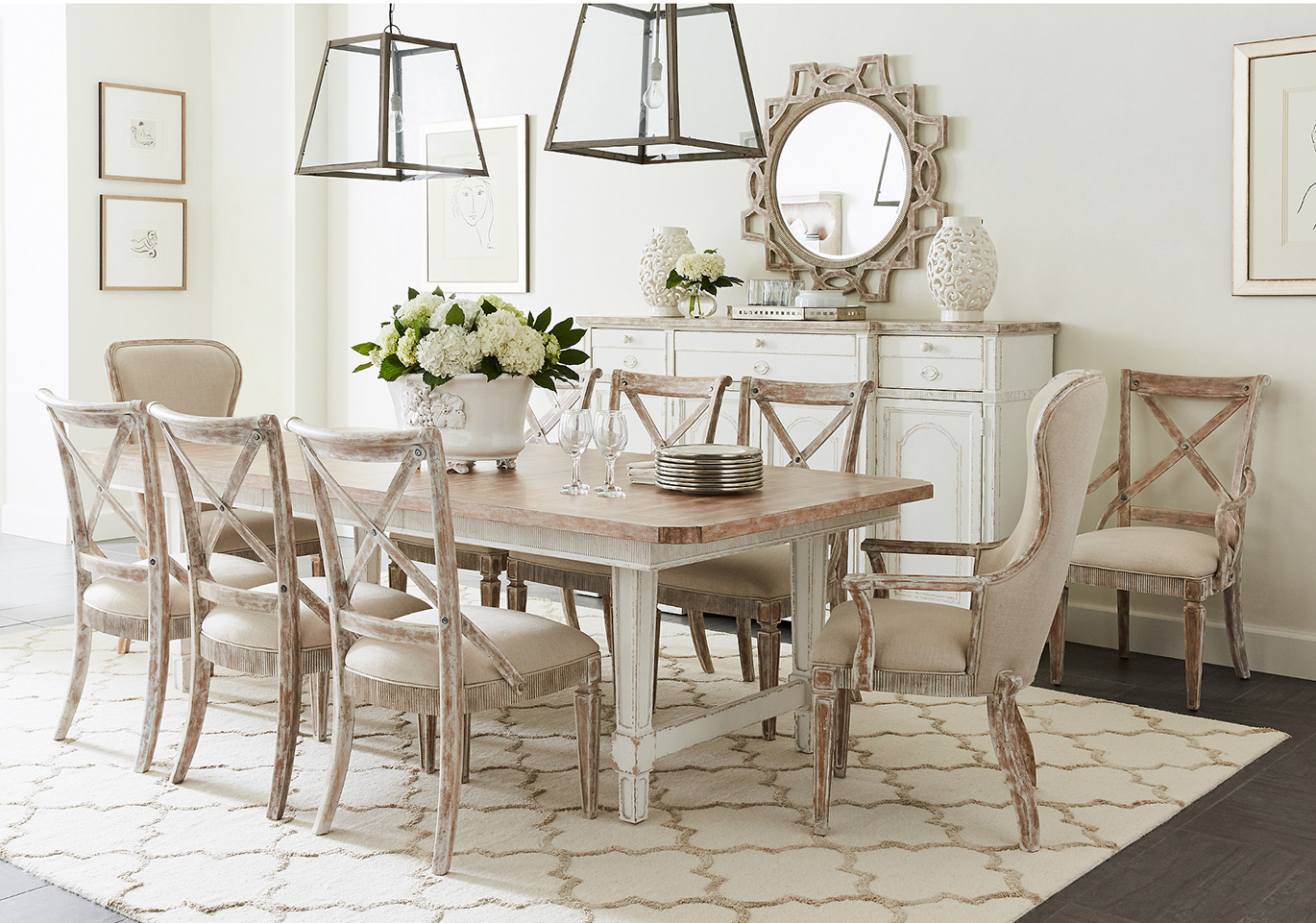 Juniper Dell dining table with chairs