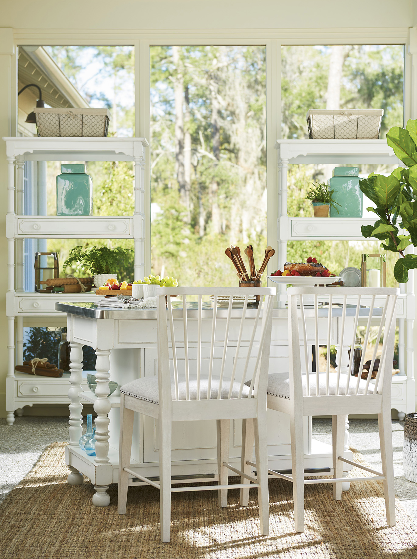 Paula Deen Island Table With Chairs Furniture De