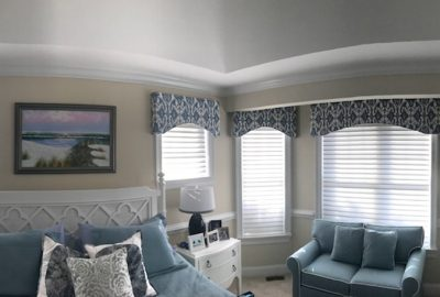 Bedroom blinds and toppers