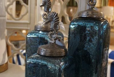 bottles with seahorse tops