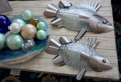 glass metal fish flat
