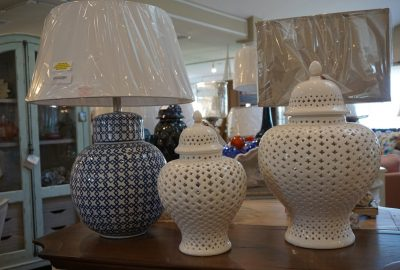vases and lamp