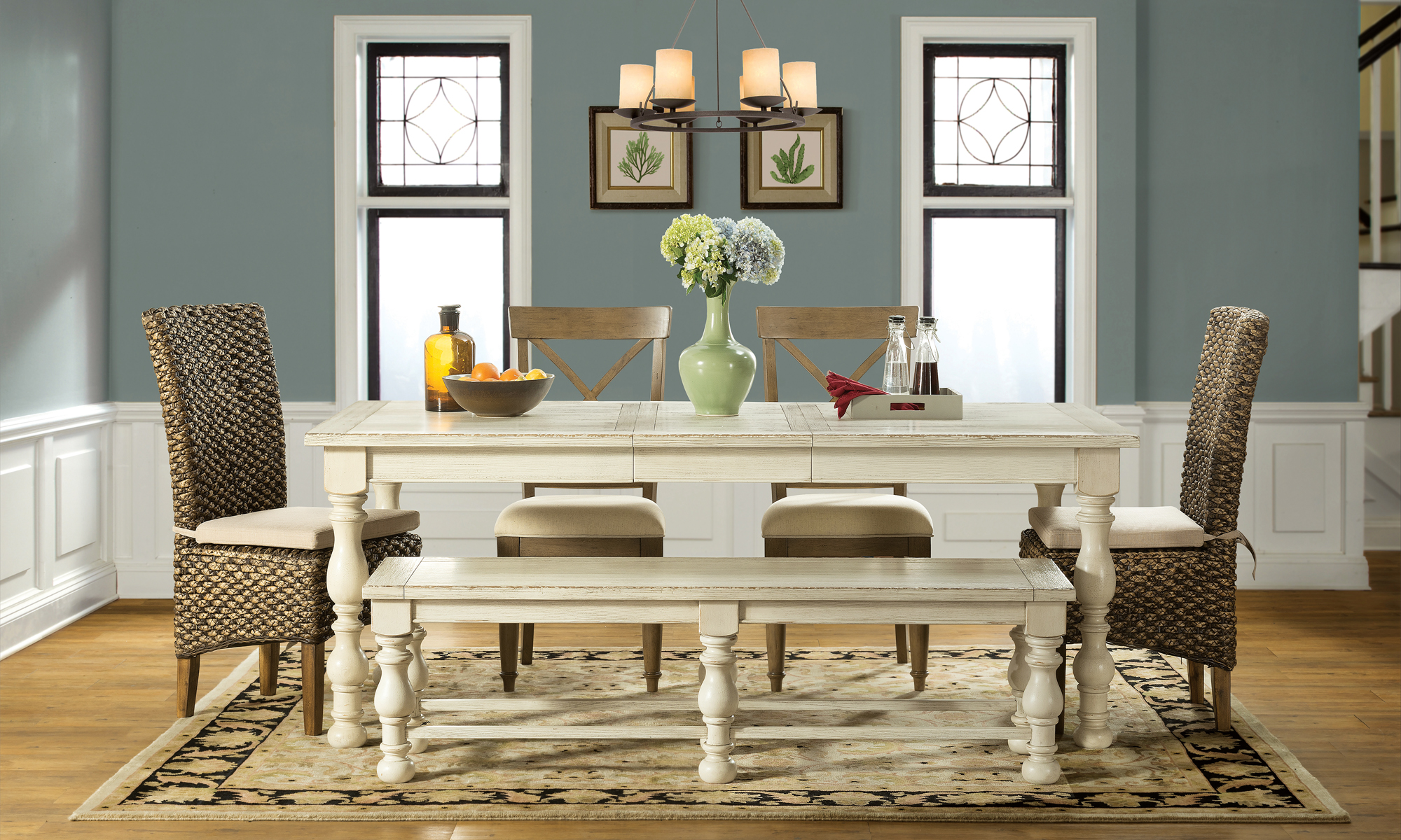 Weathered dining room set
