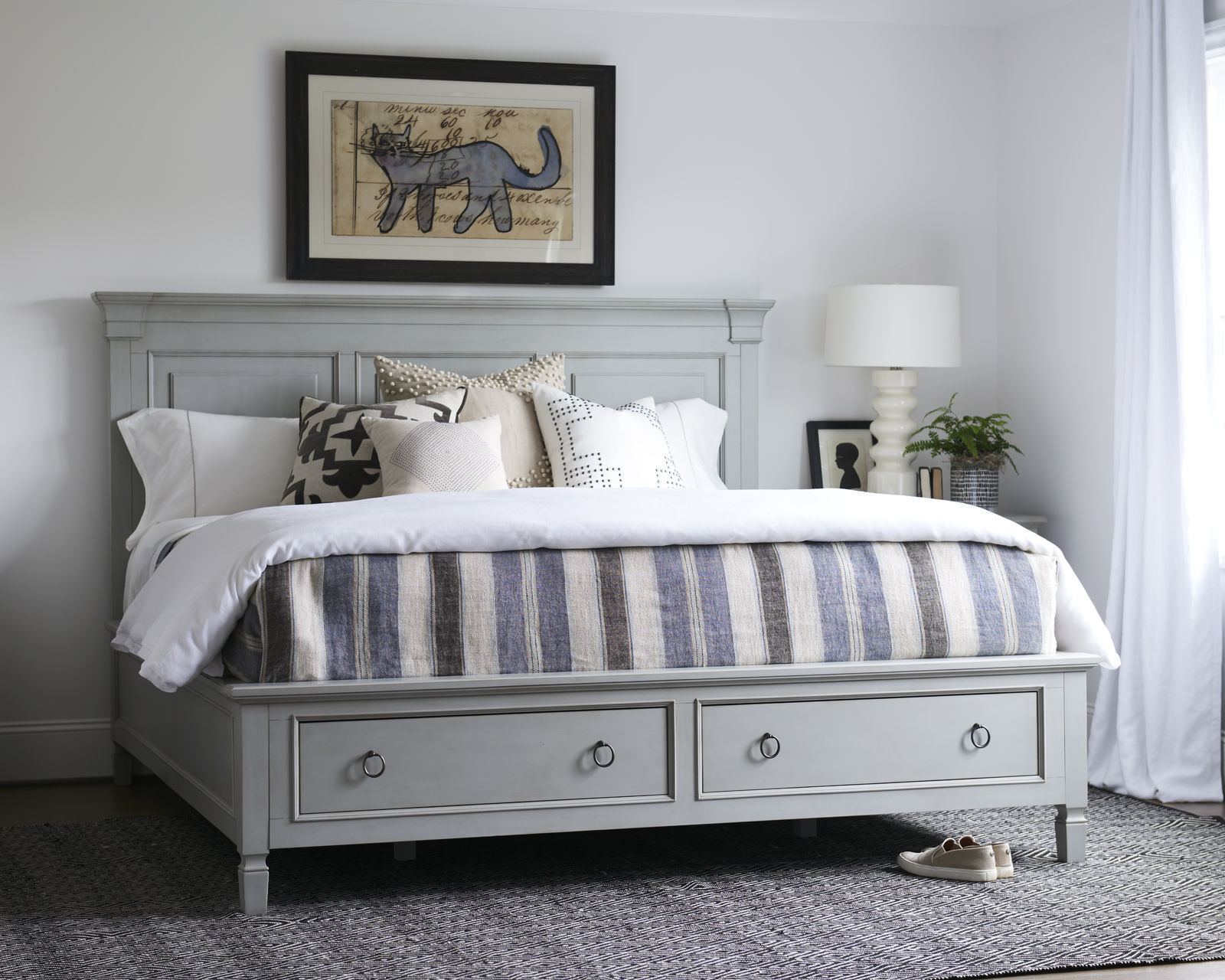 Summer Hill French Grey Bed