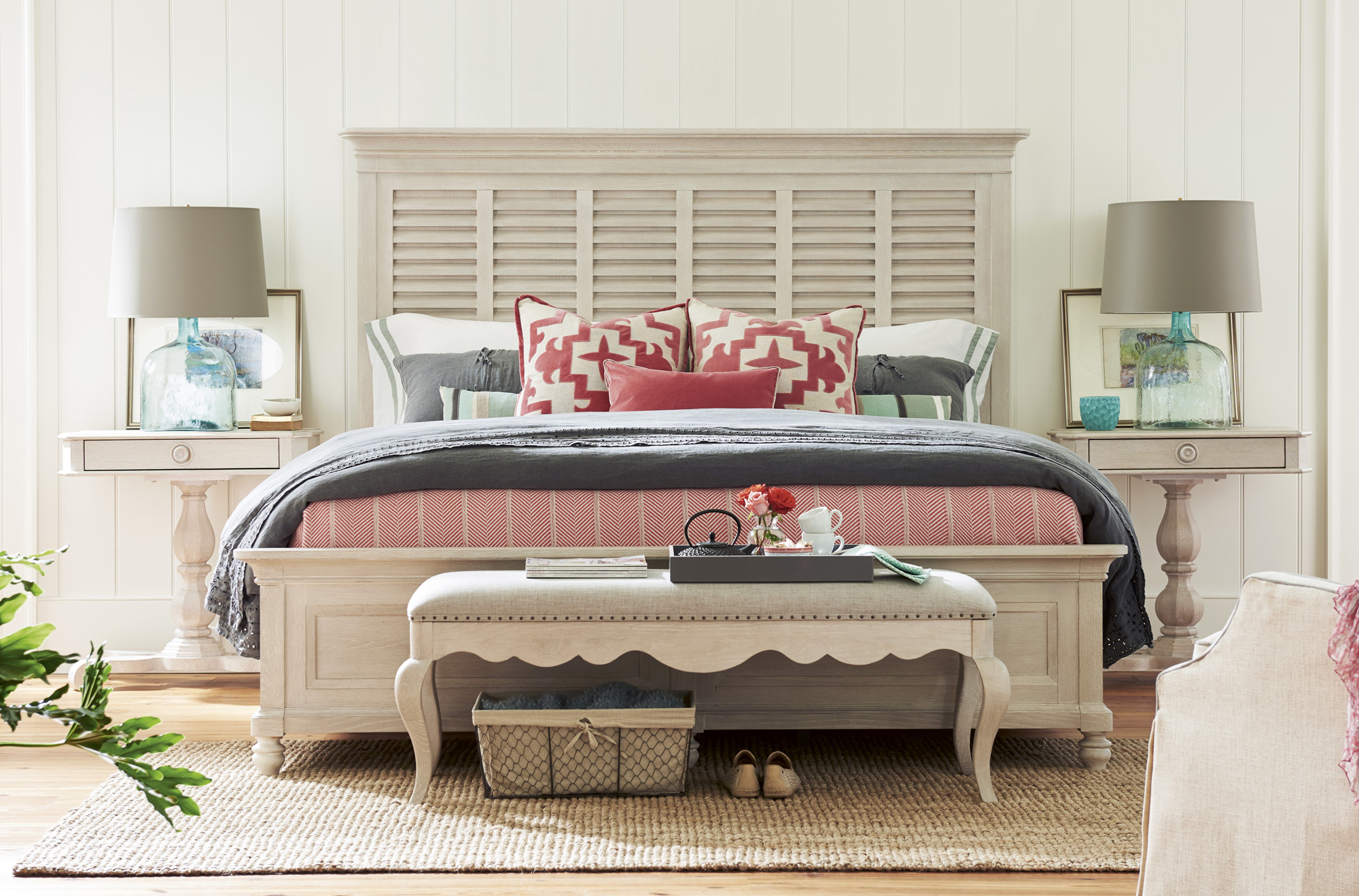 king bed by bungalow