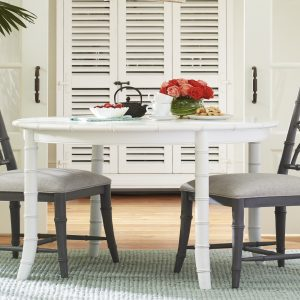 white dining table with grey chairs
