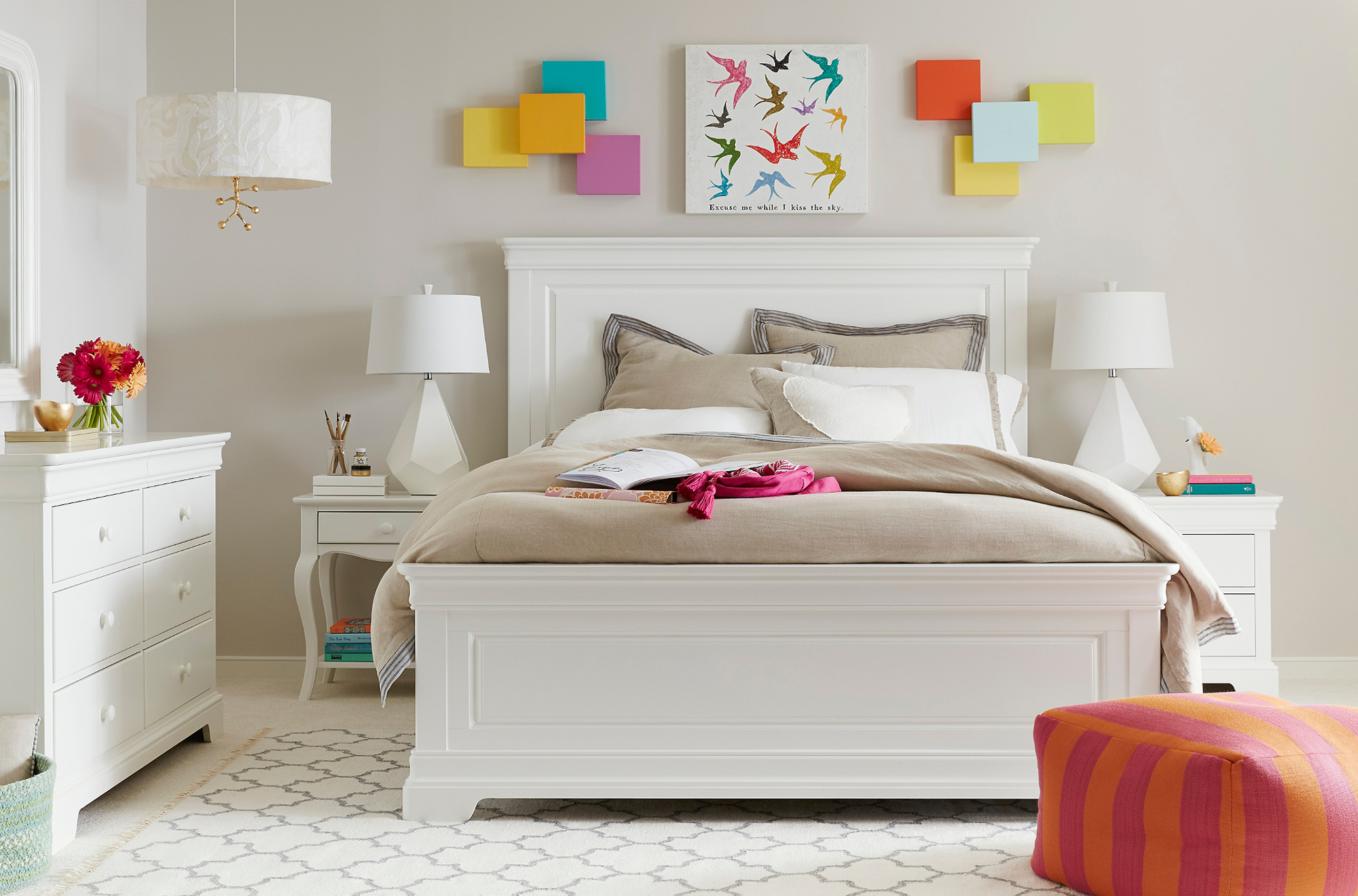 Teaberry Lane White Bed Collection
