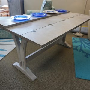 flip table with plates
