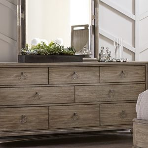 dresser with mirror on top