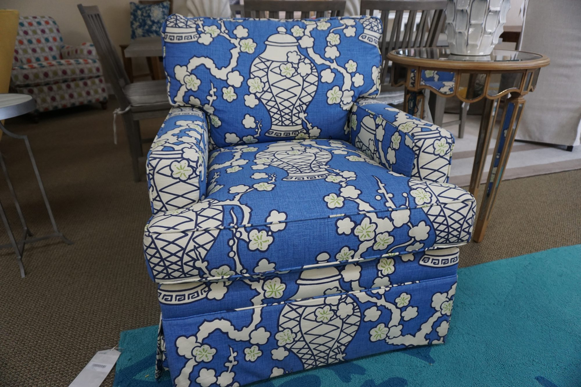 blue chair sofa
