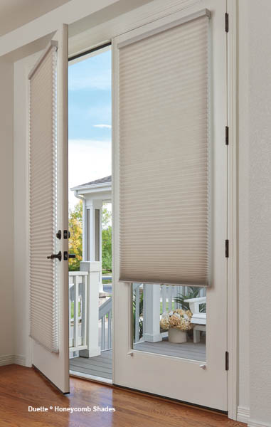 french doors with shades