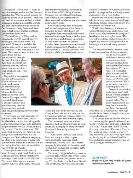 magazine page with man dressed up in center