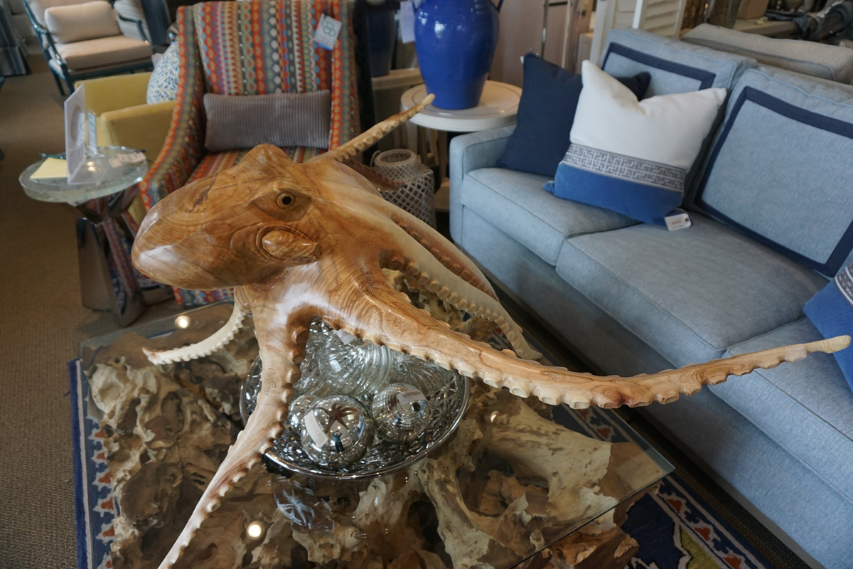 Hand Carved Wooden Sea Life Furniture De