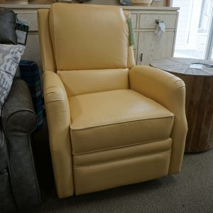Comfort Design Leather Maco Power Swivel Glider Hesterfield Butter 1
