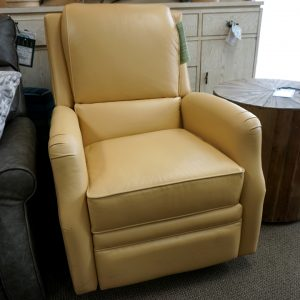 Comfort Design Leather Maco Power Swivel Glider Hesterfield Butter 2