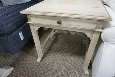 Caribe Pacifica End Table Aged White
