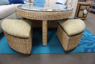 Caribe Palmetto Hassock Table
