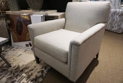 Larren Grey Occasional Chair fabric Thrill Stone
